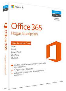 Microsoft Office 365 Hogar 1 Año Esd Español 5x Pcmac Ebay