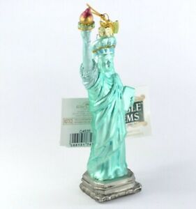 New-York-City-Statue-of-Liberty-Glass-Christmas-Ornament-NEW