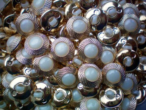 15 mm 18 mm 20 mm or /& blanc ivoire nacré Queue Robe Veste Bouton P44 P45 P46