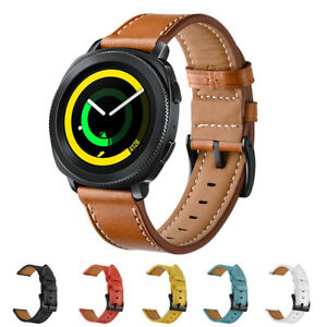 Genuine-Leather-Strap-Wrist-Band-for-Samsung-Gear-Sport-S4-Garmin-Vivoactive-3