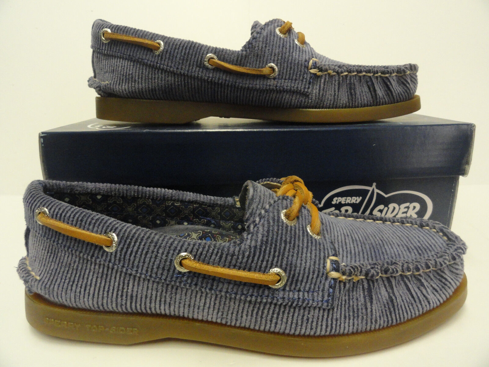 Women's Sperry Top Sider A O bluee Washed Corduroy Boat shoes Size 5