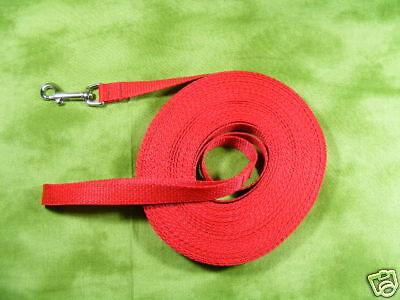 Dedicated 50' Puppy Dog Training Leash Web Long Line - Red!!
