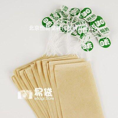 "33pcs m Free Shipping 2.4x3.9"" 6x10cm Drawstring Empty Tea Bags With Tags"
