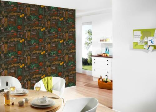 KITCHEN WALLPAPER CHALKBOARD MENU FEATURE VINYL WALLPAPER A.S.CREATION 34072-1