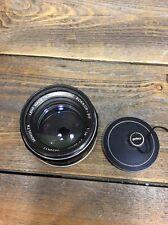 Minolta Mc Rokkor-PF 58mm 1:1.4 f/1.4 MF Lens Japan #5255417 Covers Hoya Filter