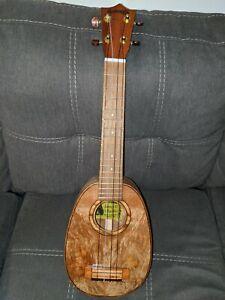Sonny-D-Curly-Mango-Pineapple-shape-Custom-Concert-Ukulele-w-hardcase