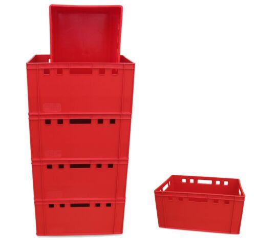 6 x Eurofleischkiste E3 NEU stapelbar Lagerkiste Metzgerkiste Kiste Box Behälter