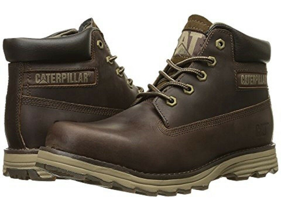 CATERPILLAR P719587 FOUNDER Mn's (M) Dark Brown Leather/Nubuck Lifestyle Boots