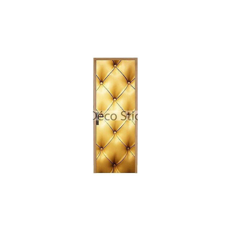 Aufkleber für Tür Flach, Gepolstert Gold 93x204cm Ref 312 A2e3a75e50e1
