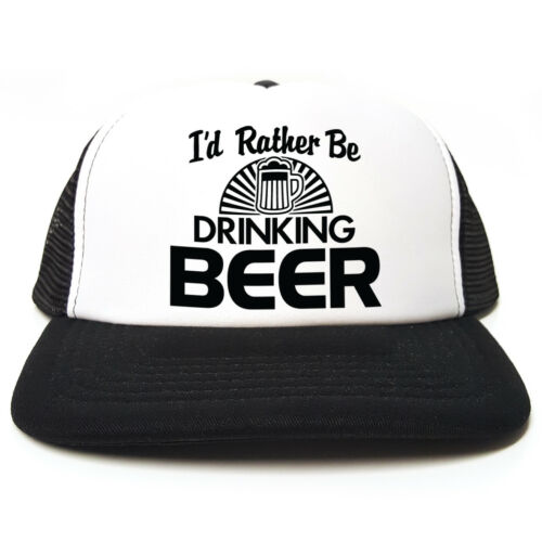 Funny Trucker Cap Hat I/'d Rather Be Drinking Beer Gift Idea 3 colours