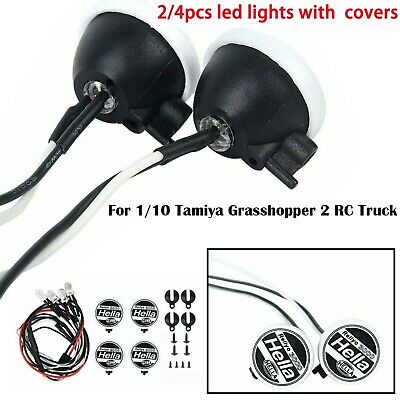 Model Car Searchlight Led Lights With Simulation Cover for Tamiya Grasshopper 2