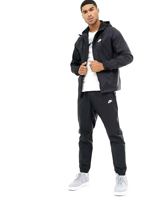 Nike Lucido Setoso Ragazzi Track Sport Giacca Pantaloni Completo Tuta Con Cappuccio Da Uomo Nuovo Con Etichetta