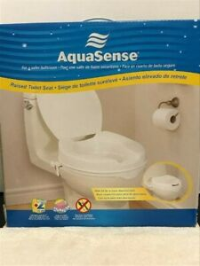 Swell Details About Aquasense Raised Toilet Seat With Lid White 2 Inches New In Box Theyellowbook Wood Chair Design Ideas Theyellowbookinfo