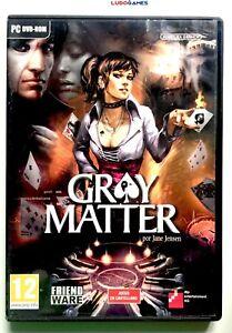 Gray-Matter-PC-Complet-Ouvert-comme-Neuf-Videojuego-Retro-Like-Nouveau-Spa