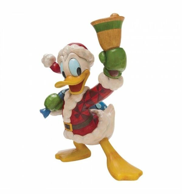 jim shore disney ring in the holidays big donald duck santa suit xmas figure new - Donald Duck Christmas
