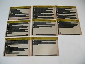 Chevrolet-S10-95-1995-S-T-Microfiche-Light-Truck-Parts-8-Cards-Catalog-Chevy-G