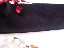 "Beautiful Black stretch Cotton Velvet Elastane Fabric 142cm 55"""