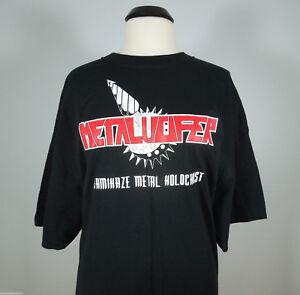 METALUCIFER-Kamikaze-Metal-Holocaust-T-Shirt-R-I-P-Records-size-XL-NEW
