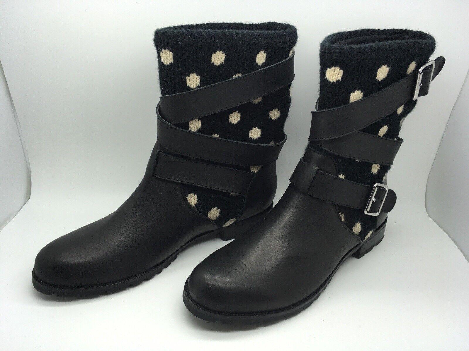 Stiefletten Mellow Gelb neu schwarzes Leder Größe 38 EUR   6.5 US