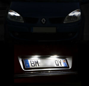 4-ampoules-a-LED-Veilleuses-Feux-de-plaque-Blanc-pour-Renault-Espace-4-IV
