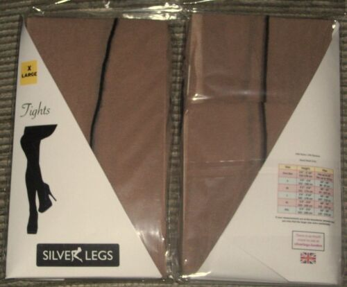 Ladies Plus Size 20-30  Stiletto Heel  Seam Tights Nude With Black Seam XL XXL
