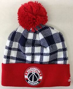 8904aa3aeb3 NBA Washington Wizards Cuffed Winter Knit Pom Cap Hat Beanie Style ...