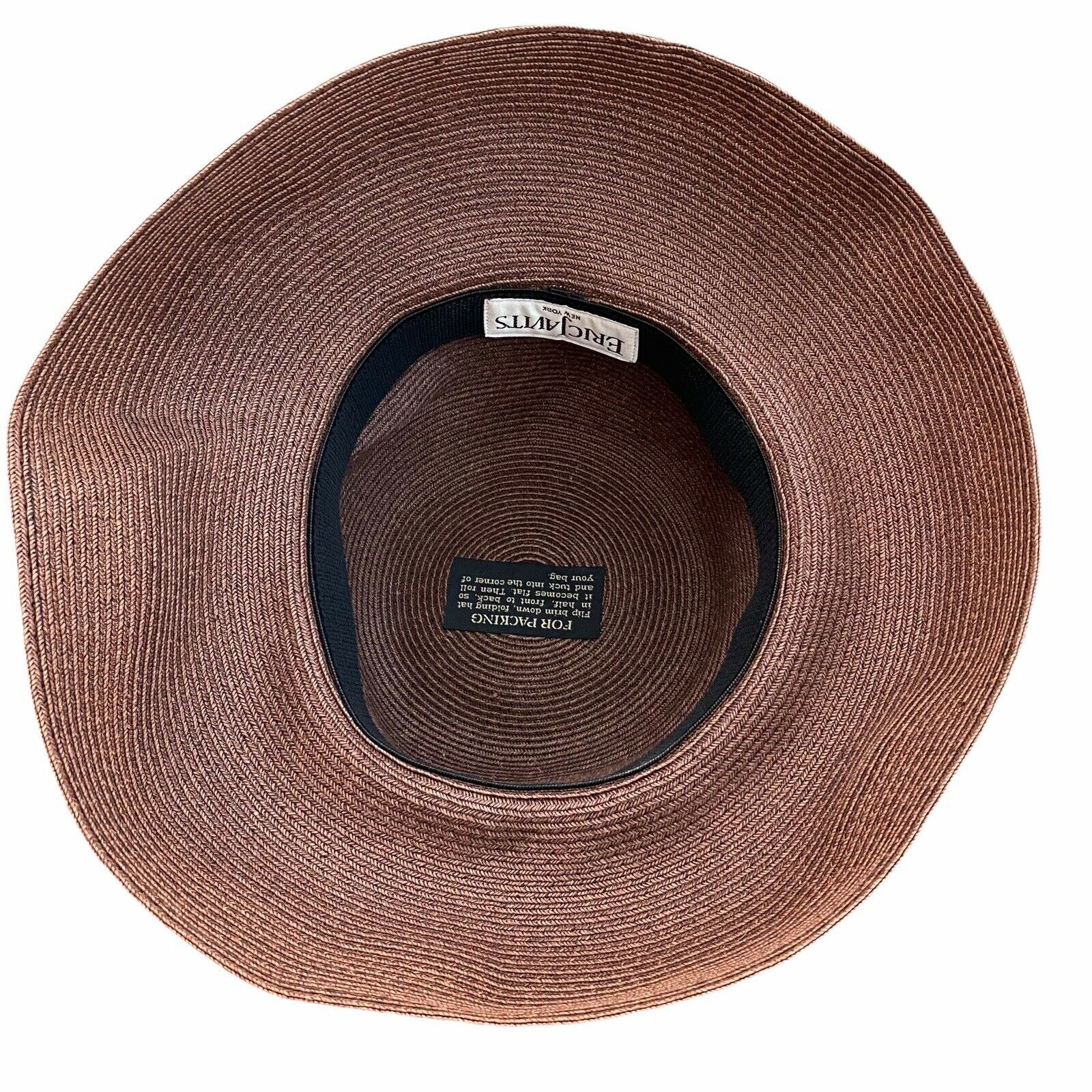 Eric Javits Squishee Packable Straw Hat Wide Brim… - image 10