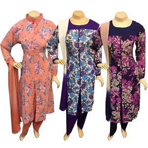 Casual Salwar Kameez Shalwar Stitched Indian Pakistani Printed Chiffon Suit