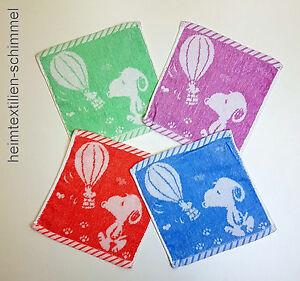 SET-4-tlg-bunte-Kinder-Waschlappen-Seiftuch-Seiftuecher-Kinderwaschlappen-SNOOPY