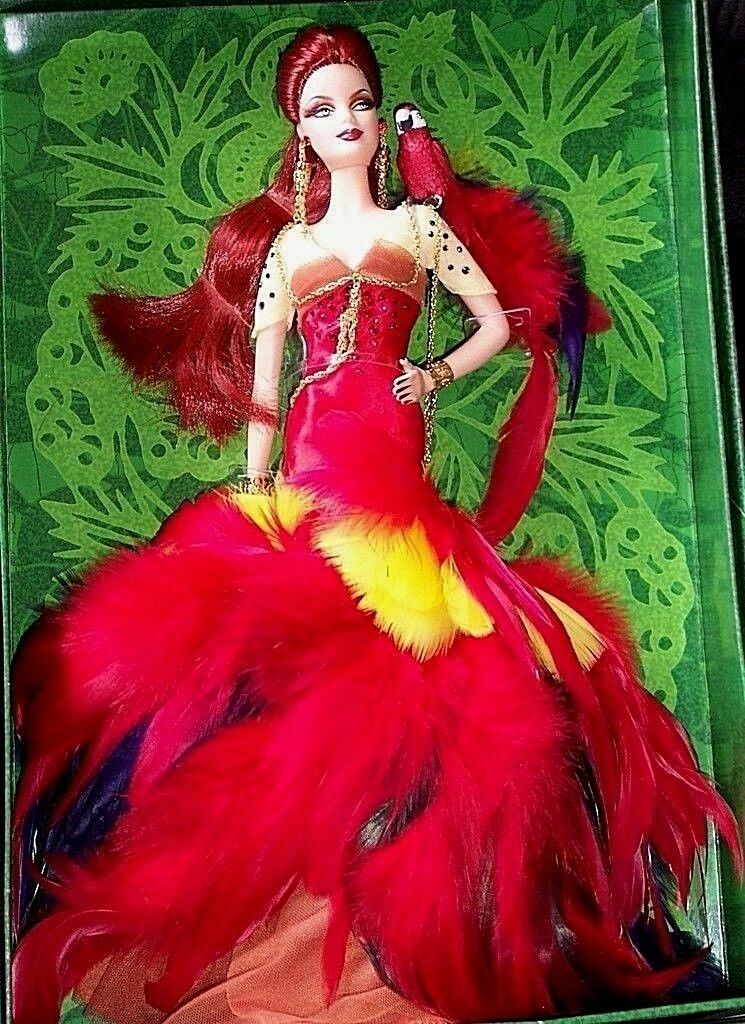 BARBIE THE SCARLET MACAW NRFB - Gold Gold Gold LABEL new model muse doll collection Mattel 9e5c5e