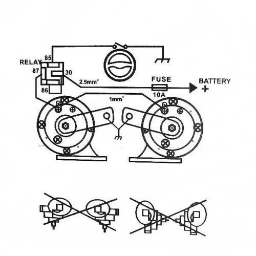 Eléctrica doble 12v Relé Repl Kit bocinas de aire se ajusta Mitsubishi Lancer Outlander