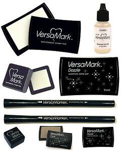 VERSAMARK-WATERMARK-SMALL-LARGE-INK-PAD-REFILL-DUAL-PEN-DAZZLE
