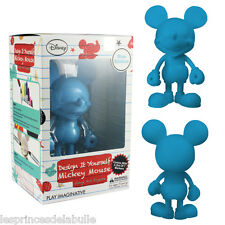 "Disney DIY 7""/18cm Mickey Mouse Blue Vinyl Art Figure + 7 Markers Munny kidrobot"