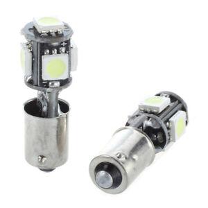 2x AMPOULE 5 LED 5050 SMD BA9S H6W T4W VEILLEUSE BLANC ANTI SANS ERREUR ODB Lamp