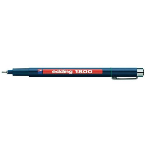 3 x Edding 1800 Profipen Pigment Liner Fineliners Drawing Pens 0.1mm to 0.7mm