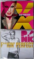 PINK (P!NK) * RAISE YOUR GLASS / F**KIN' PERFECT * GREATEST HITS CDs * HTF!