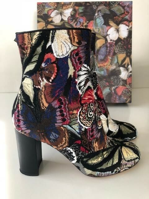 VALENTINO Butterfly Jacquard Mid-Calf Mid-Calf Mid-Calf Boot SIZE 6 excellent condition 31d472