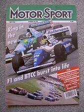 Motor Sport (May 1994) Audi Coupe S2, Brazil GP, BMW 840, 525 tds, Safari Rally