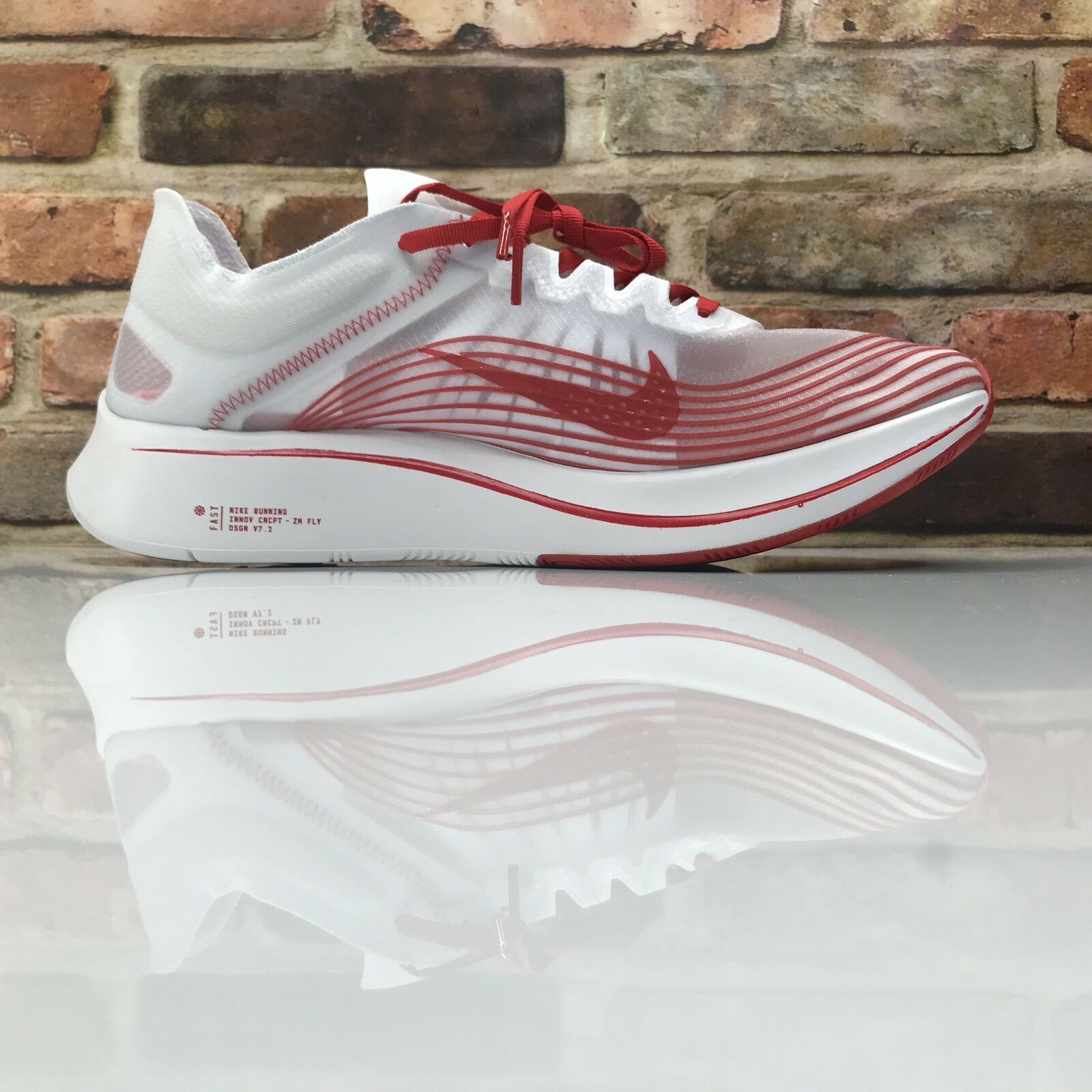 Nike Zoom Fly SP Running shoes Mens Size 10 Red AJ9282 100 BREAKING 2 RACING