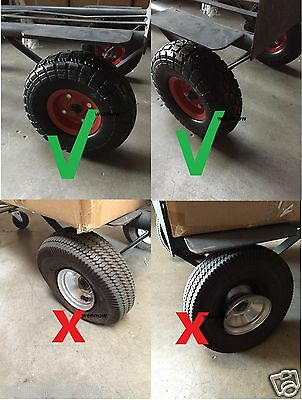 """10/"""" Flat Free Tire for Hand Truck Tire dolly with 5//8/"""" ID Bearing Filled w// foam"""