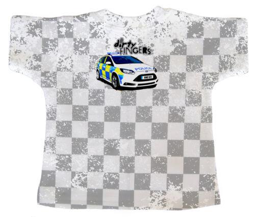 """T-shirt Bébé DF sur tout le print /""""né pour être un policier comme mon oncle/"""" voiture de police"""