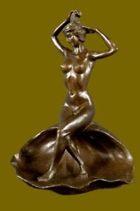 Hot-Cast-Erotic-Artwork-Bronze-Sculpture-Figurine-Statue-Lost-Wax-Method-Decor