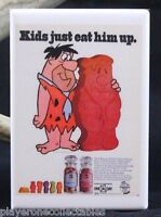 "Flintstone's Chewable Vitamins 2"" X 3"" Fridge Magnet. Vintage Advertising"