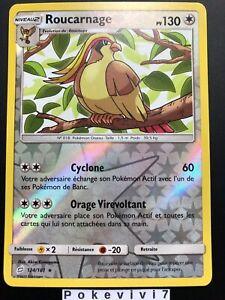 Carte-Pokemon-ROUCARNAGE-124-181-Rare-REVERSE-Soleil-et-Lune-9-SL9-FR-NEUF