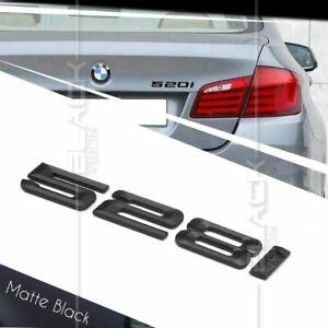 Matte Black Trunk Emblem Badge Letters for BMW E60 E61 F10 F11 5-Series 530d 530
