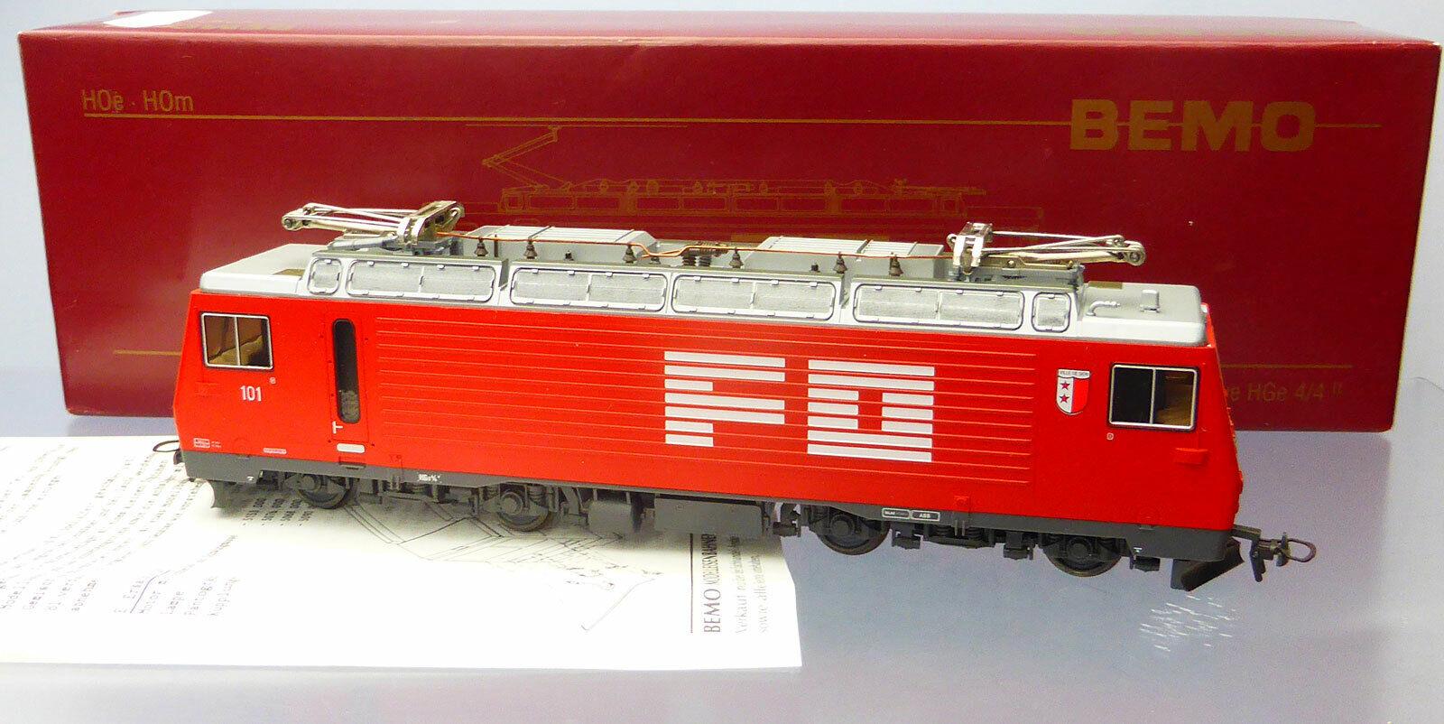Bemo 1262 201; engranaje locomotora hge 4 4 101 SBB, sin usar en OVP j354