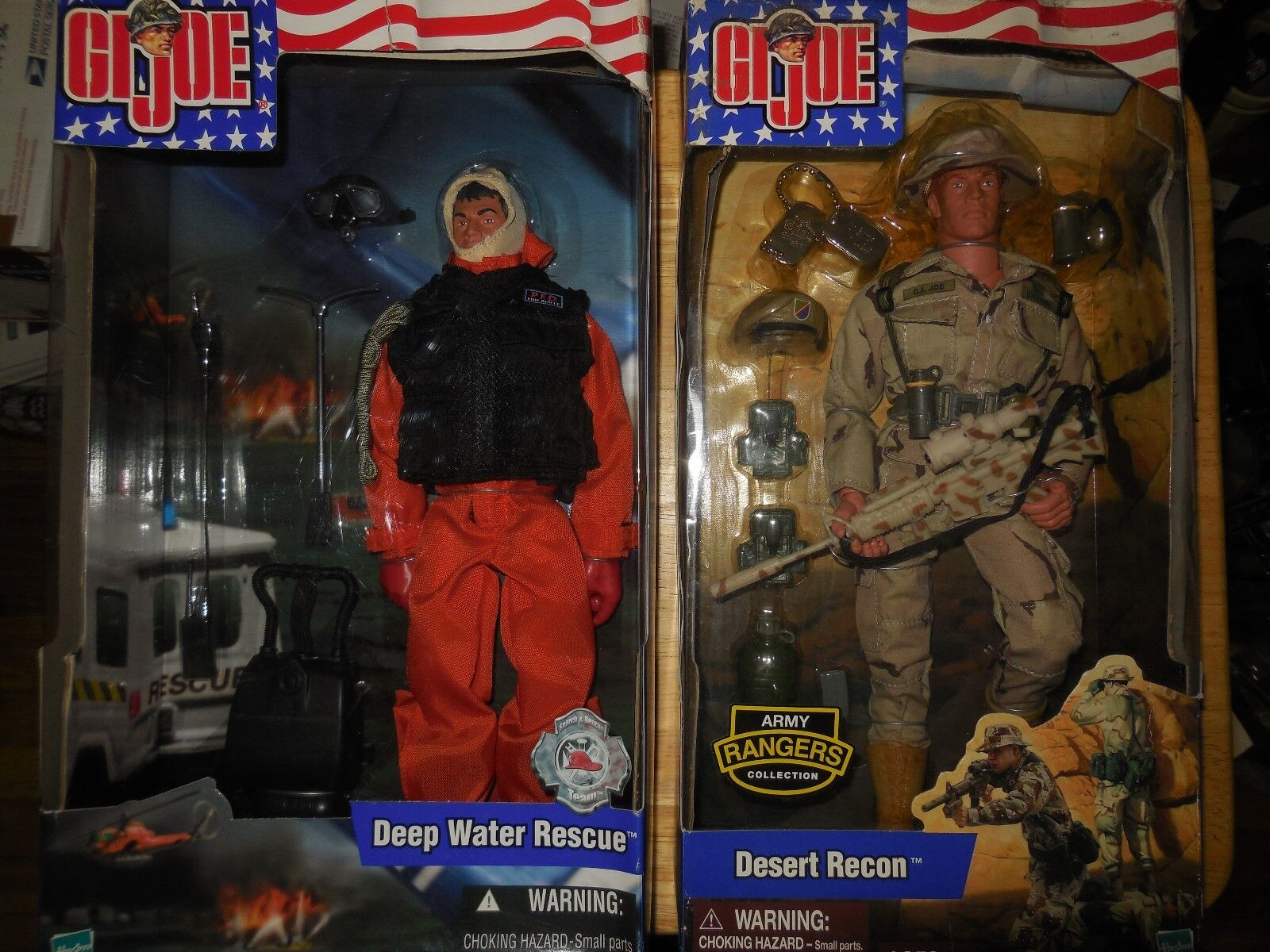 2002 g,i, joe  desert recon and deep water rescue action figures