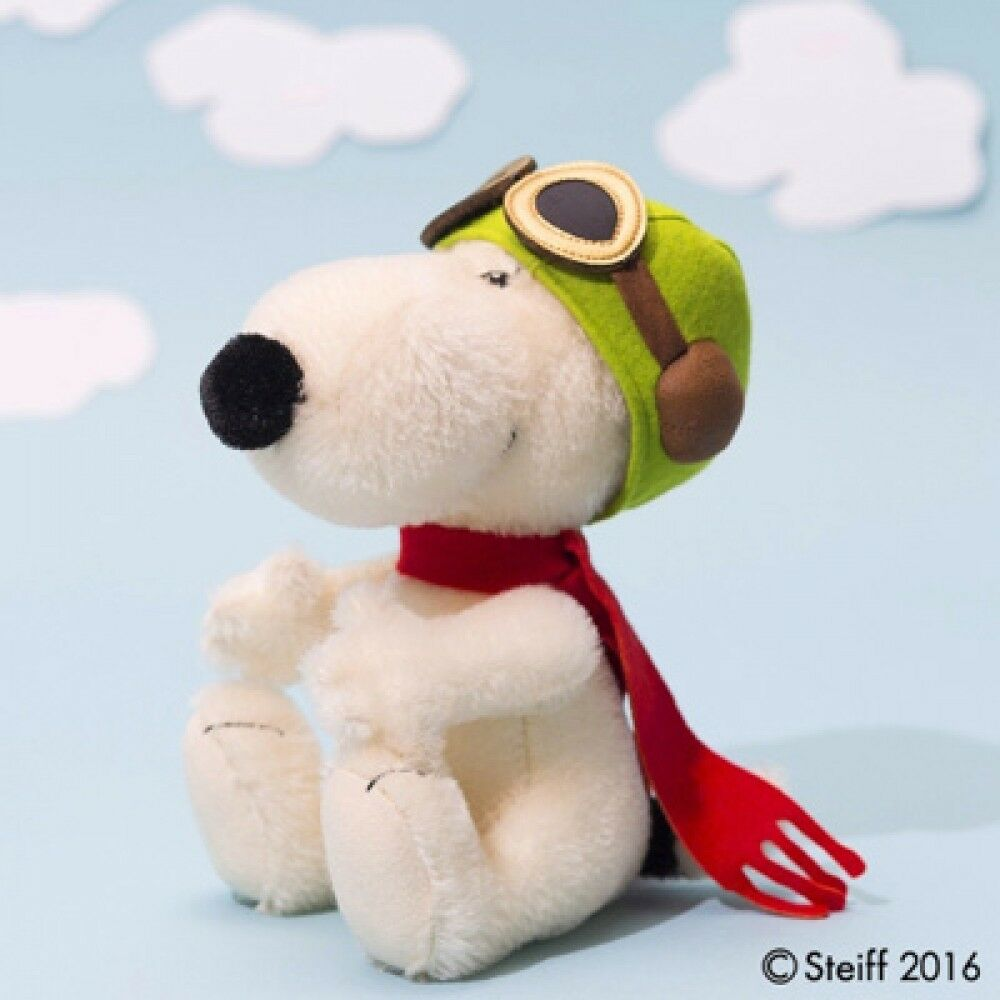 NEW Steiff x SNOOPY Flying Ace Japan 1500 Limited 2017 Peanuts Plush Doll Japan
