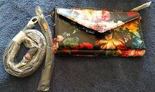 LODIS Leather RFID Envelope Pouch w/ Crossbody Strap Floral A285122 QVC FREESHIP
