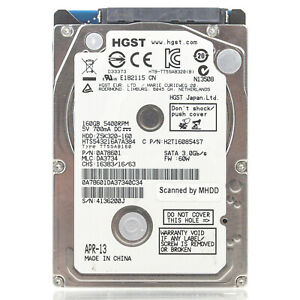 """Assorted Brands 2.5"""" 320GB SATA Laptop HDD Hard Drive - Tested & Wiped"""